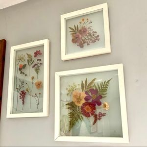 Urban Outfitters Home Floral Frame Trio